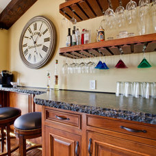 Traditional Home Bar by Luke Gibson Photography