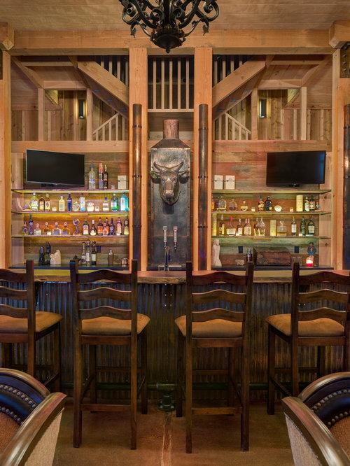 Rustic kansas city home bar design ideas remodels photos