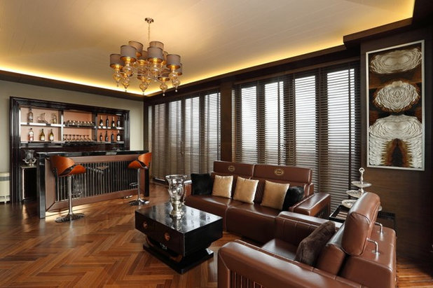 Traditional Home Bar by ACDS