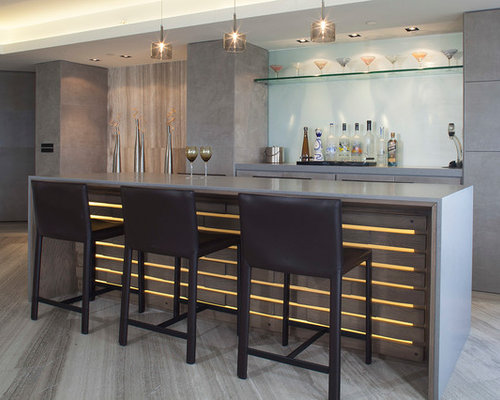 Miami Home Bar Design Ideas Renovations Photos With Open Cabinets