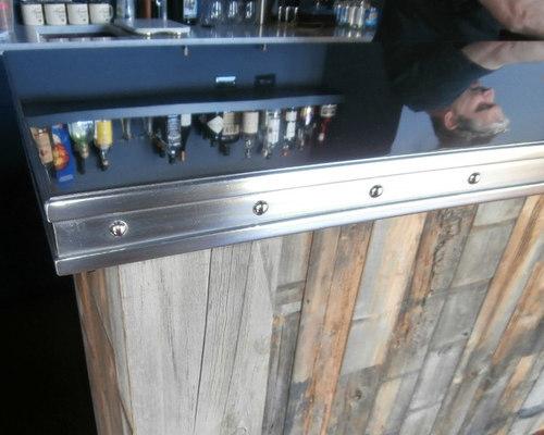 Polished Zinc Bar Top