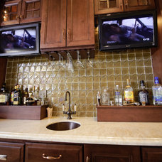 Eclectic Home Bar by Universal Cabinetry Design Center