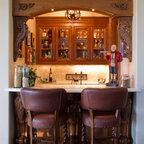 Tudor Renovation Traditional Wine Cellar New York