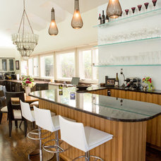 Contemporary Home Bar by Touche' Design Studio