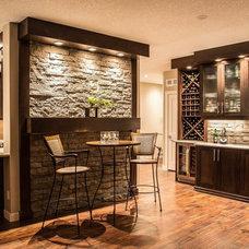 Modern Home Bar by Van Manna Homes