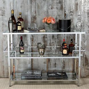Immagine di un angolo bar minimalista