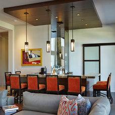Contemporary Home Bar by Susan Lachance Interior Design