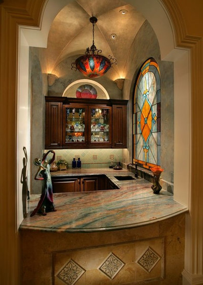 British Colonial Home Bar by Harwick Homes