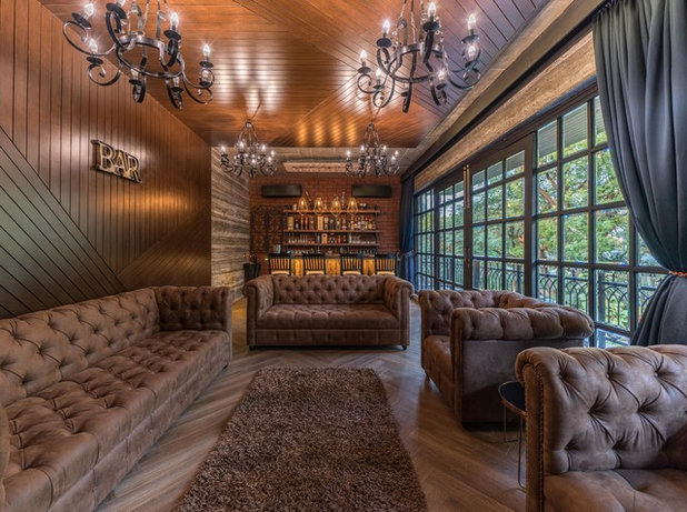 Eclectic Home Bar by Ricken Desai Photography