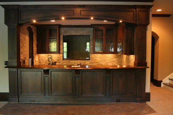 Traditional Home Bar by Distinctive Cabinets