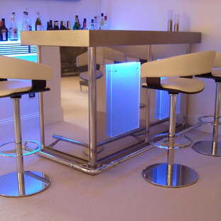 This is an example of a home bar in Surrey.