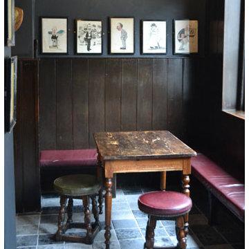 Quarry tiles at The Punchbowl pub