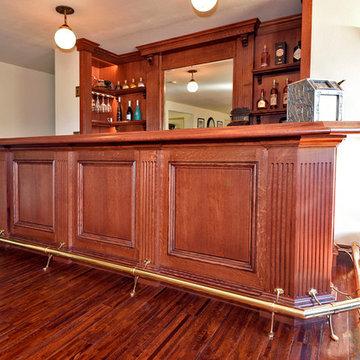 Quartersawn Oak Bar