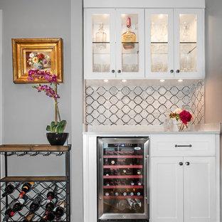 Reach-In Closet Transforms into Home Bar