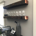 Park Slope Brownstone Rustic Home Bar New York By