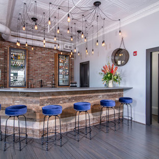 Reclaimed wood used for bar