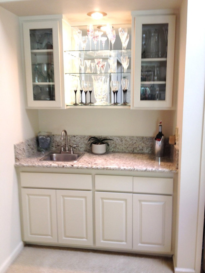Refaced Wet Bar Cabinets