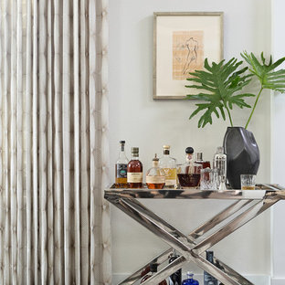 オーランドの小さいトランジショナルスタイルのおしゃれなバーカート (濃色無垢フローリング、茶色い床) の写真