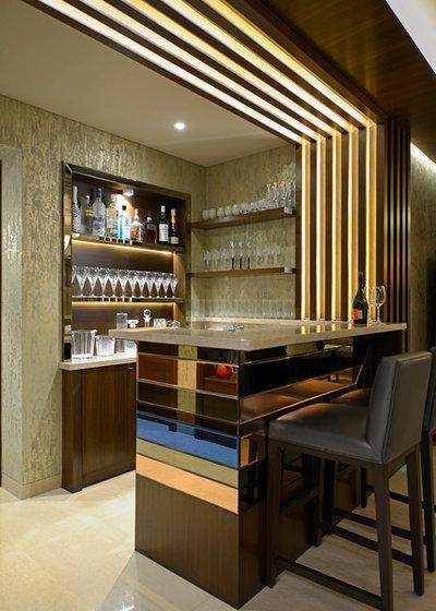 Contemporary Home Bar by Contours The Design Company