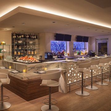 Restaurant Bar with LED Accent Lighting including Submersible LEDs