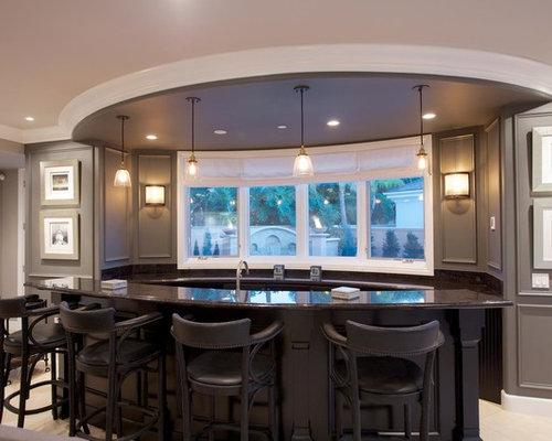 Contemporary Banquettes Home Bar Design Ideas Renovations Photos