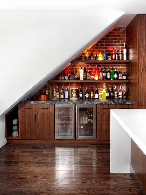 Bar Under Stairs Home Design Ideas, Pictures, Remodel and Decor
