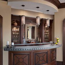 Traditional Home Bar by Martini-Samartino Design Group, LLC