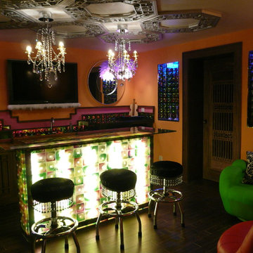 Rooms - Home Bars - With Antique Chinese Design Elements
