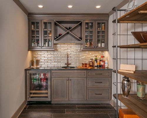 Home Bar Design Ideas Houzz: Home Bar Design Ideas, Remodels & Photos With Recessed