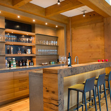 Rustic Home Bar by Cabin Fever Interiors
