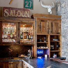 Rustic Home Bar by Pinetop Custom Homes