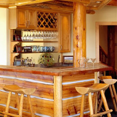 Rustic Home Bar by Swanson Construction
