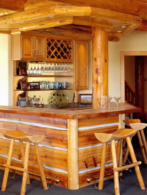 Wonderful Bar De Salon En Bois #14: De Salon Habillage Bois Cerisier : Photos Et Idées Déco De Bars De .