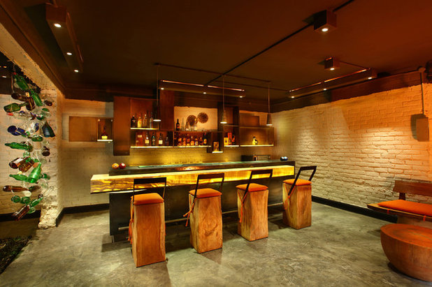 Eclectic Home Bar by Group DCA