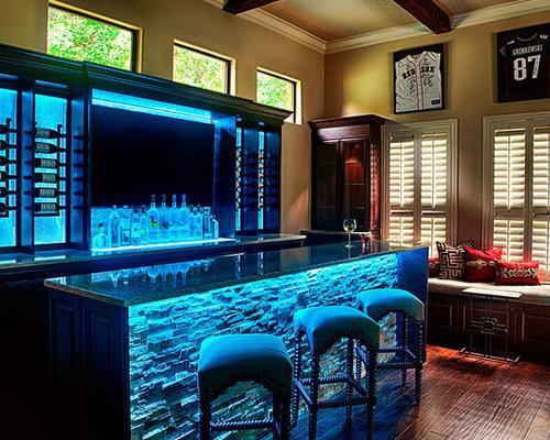 Led moderne hausbar einrichten ideen design bilder for Bar de maison design
