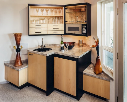 Kitchenette designs home design ideas renovations photos Home bar furniture seattle