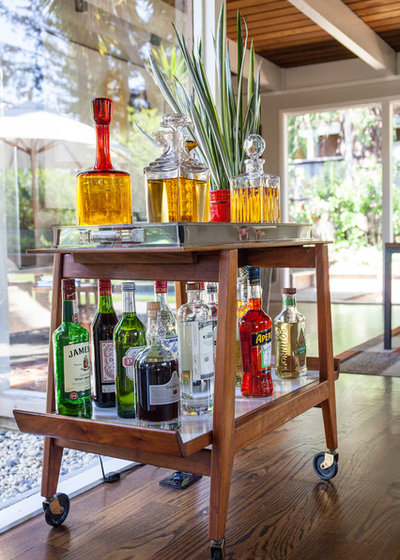 Midcentury Home Bar by BK Interior Design