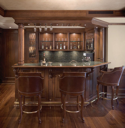 Traditional Home Bar by Christine Austin Design