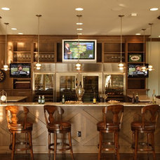 Traditional Home Bar by VanBrouck & Associates, Inc.