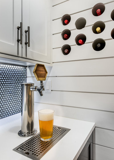 Transitional Home Bar by Buildwell