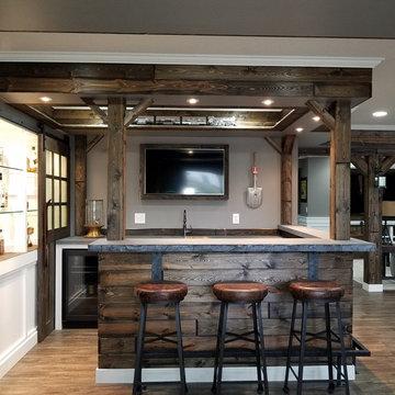 Ski Lodge Themed Concrete Home Bar