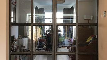 Sliding barn doors. Kilburn London