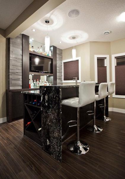 Contemporary Home Bar by Urban Abode