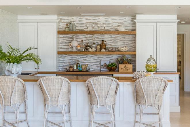 Beach Style Home Bar by Verandah House