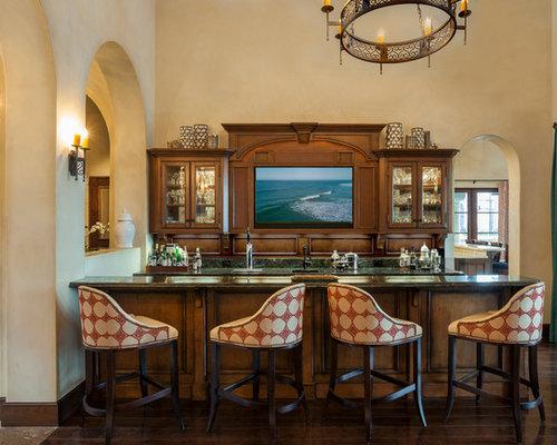 Mediterranean Home Bar Idea In Los Angeles Save Photo Maraya Interior Design