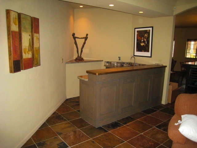 Stained Oak Home Bar