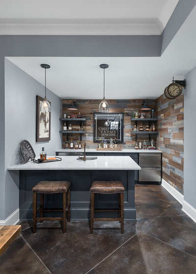 Transitional Home Bar by Picture Perfect House
