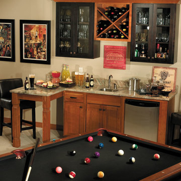 StarMark Cabinetry Game Room Wet Bar