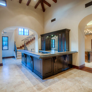 75 Beautiful Ceramic Floor Home Bar With Terrazzo