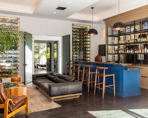 Contemporary Home Bar Design Ideas Remodels  Photos